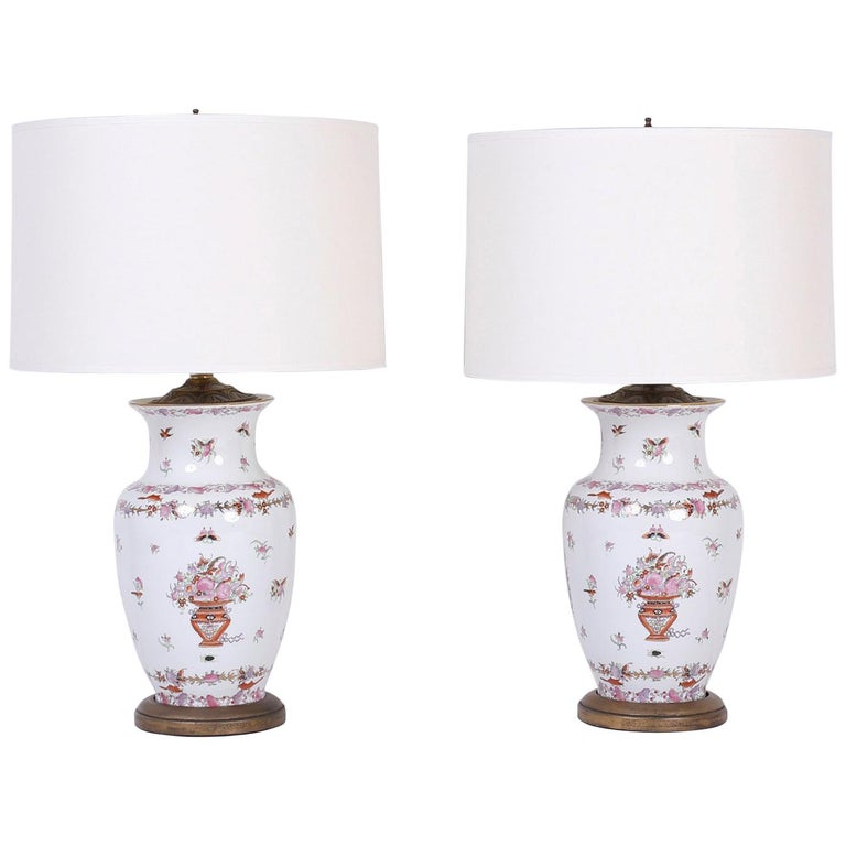Pair of chinese porcelain table lamps for sale at 1stdibs pair of chinese porcelain table lamps for sale aloadofball Images
