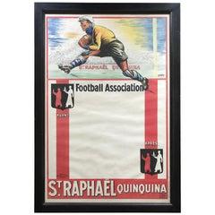 St Raphaël Quinquina Football Association, Vintage Lithograph Poster, ca. 1930s