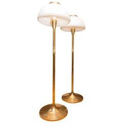 Pair of Vintage Midcentury Floor Lamps, 1970s, Austria