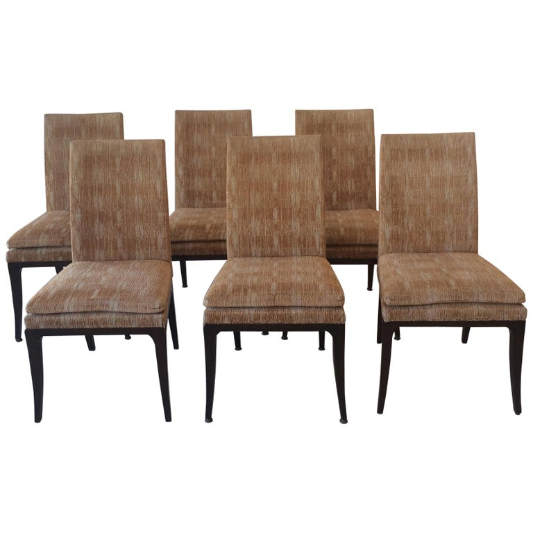 Six Tommi Parzinger Dining Chairs