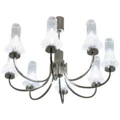 1960s Eight-Arm Cristal Ceiling Light