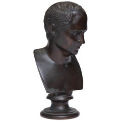19th Century Italian Grand Tour Bronze Bust of a Roman Senator