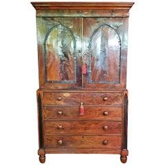 Late 18th Century Regency Gothic Revival Linen or Vestment Press