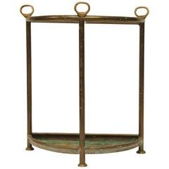 Midcentury Carl Auböck Style Brass Umbrella Stand