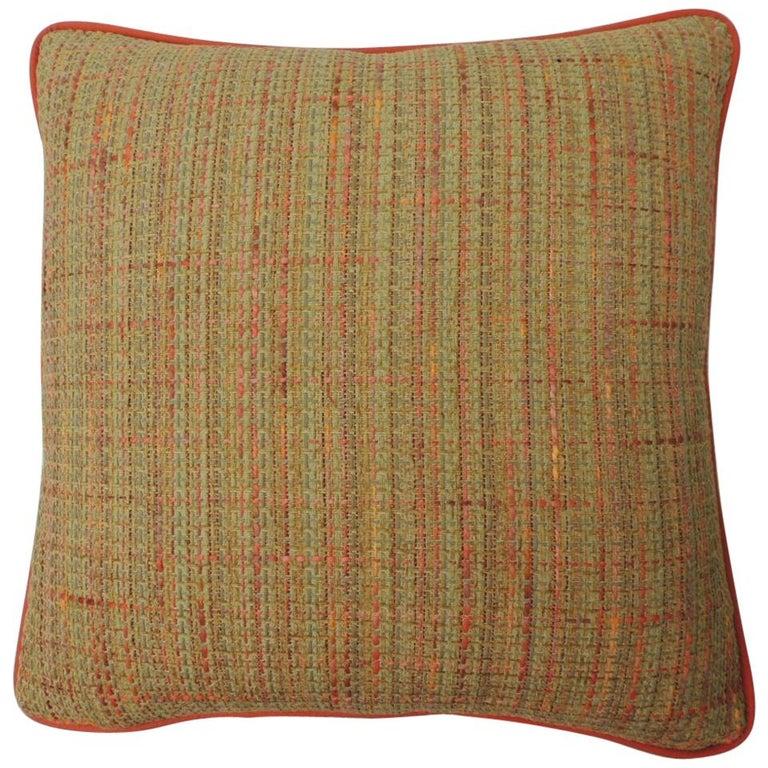 "Orange Tweet ""Willow"" Decorative Pillow For Sale"