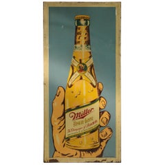 Original 1950s Advertising Miller Beer Sign