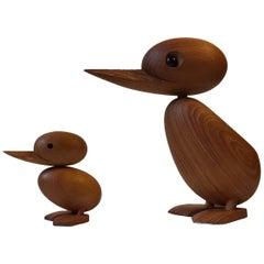 Set of Duck & Duckling in Teak by Hans Bølling for Architectmade