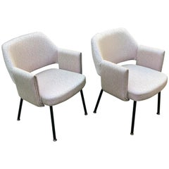 Pair of Mid-Century Dining or Side Chairs by Marc Simon for the SS France, 1962