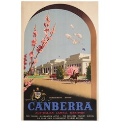 Original Vintage Poster, Canberra Australian Capital Territory by Trompf, 1930