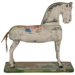 Small Early 20th Century French Wooden Horse