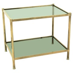 Midcentury Brass or Glas Side Table