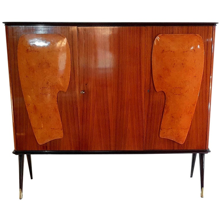 Midcentury Bar Cabinet in the Style of Ico Parisi, Italy