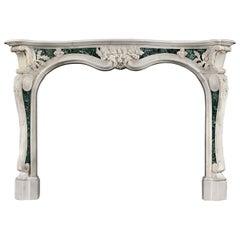 Mid-18th Century Georgian English Rococo Fireplace