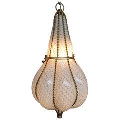 Gorgeous Venetian Blown Glass Pendant Light Fixture