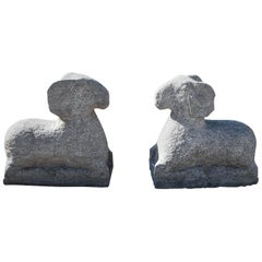 Stone Sculptures of Rams, 21st Century