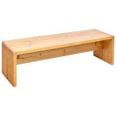 Charlotte Perriand Large Wood Bench for Les Arcs, circa 1960