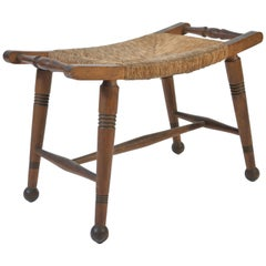 1940s French Rush Stool
