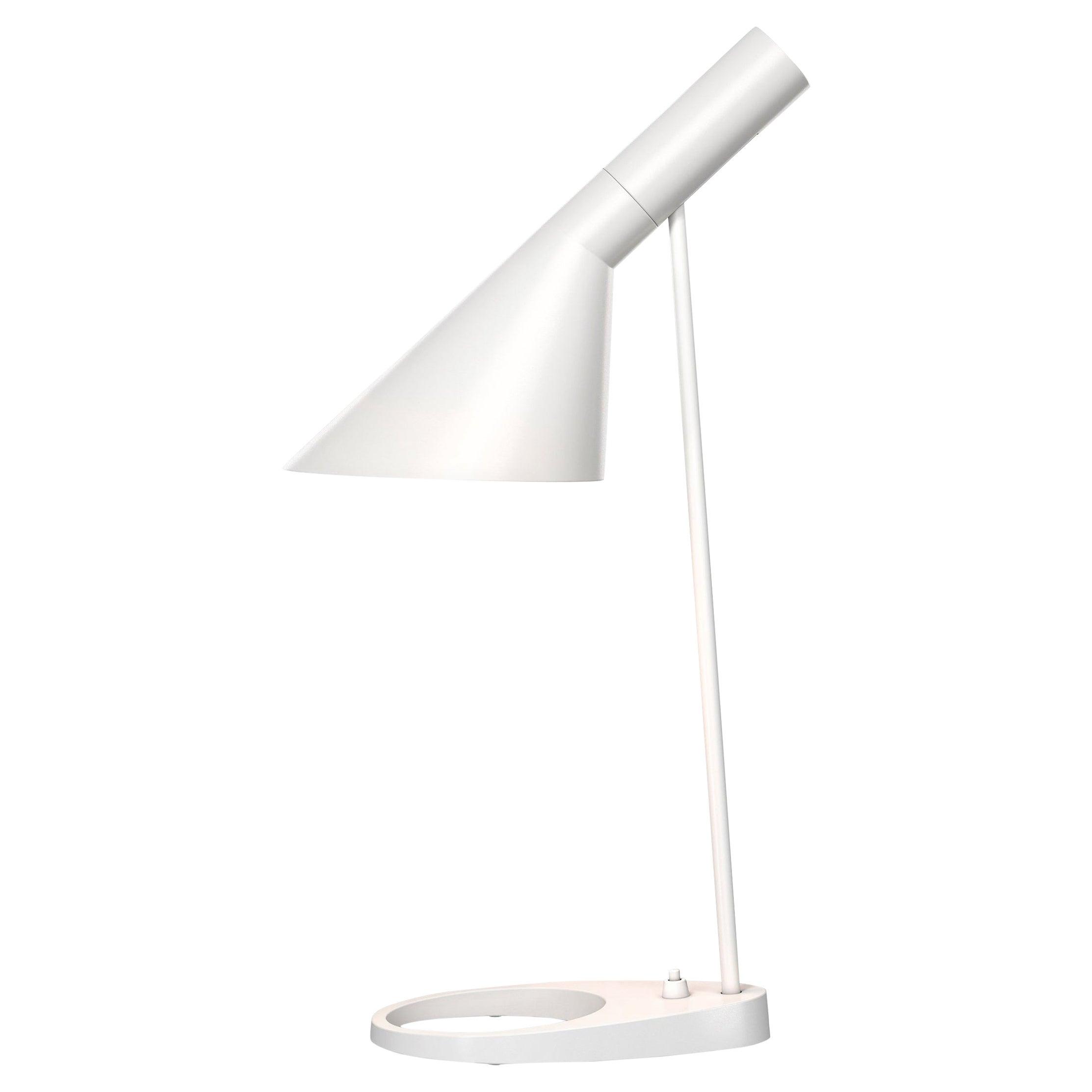 Arne Jacobsen AJ Table Lamp in White for Louis Poulsen