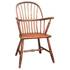 19th Century Primitive Rustic Windsor Armchair