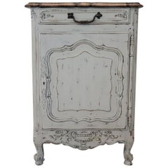 20th Century French Provencal Louis XV Style Painted Small Buffet or Nightstand
