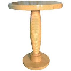 French Art Deco Oak Bassam Side Table