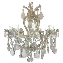 20th Century Italian Crystal Chandelier Maria Theresa Eleven-Light Pendant