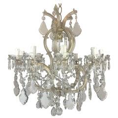 20th Century Italian Crystal Chandelier Maria Theresa Eleven-Light Pendant