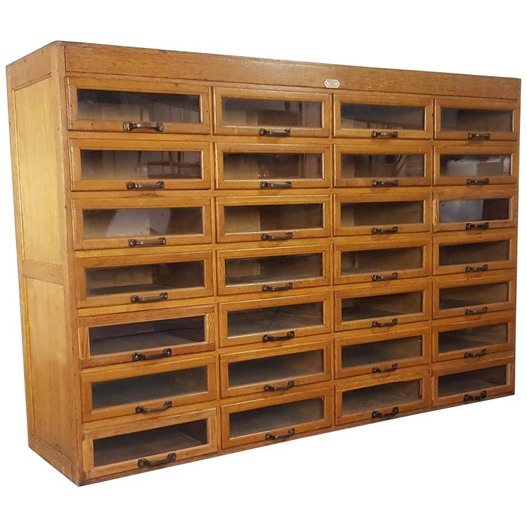 Early 20th Century 28-Drawer English Haberdashery Cabinet