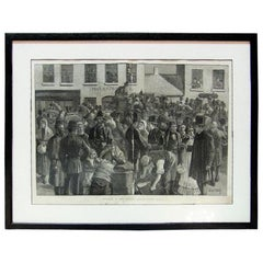 Departure of Irish Emigrant Clifden County Galway Illustration