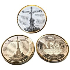 Fornasetti Recipe Plates, Set of Eight