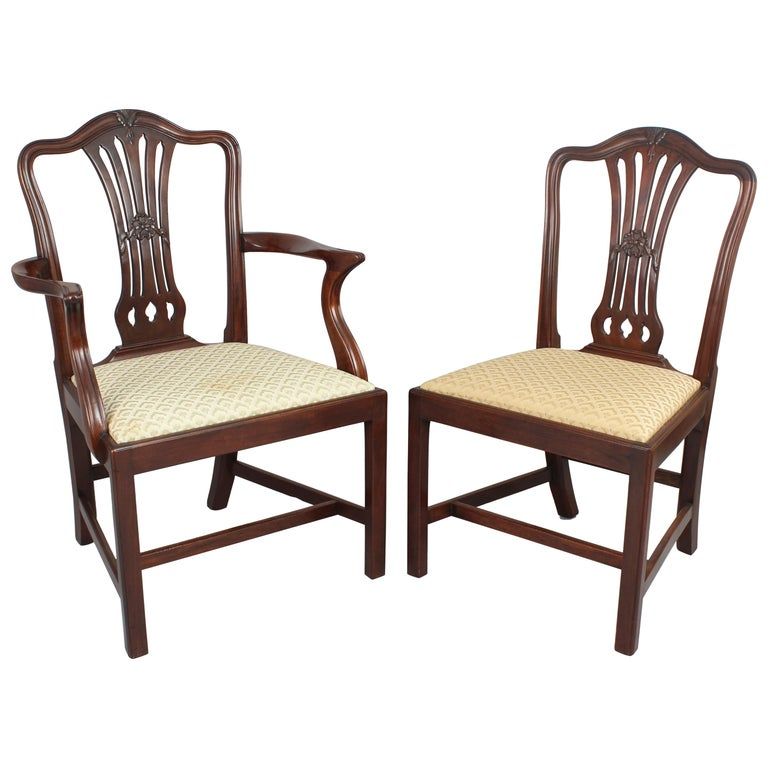 Good Quality Set Of Eight Mahogany Dining-Chairs In The