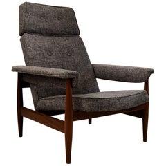 Mid-Century Modern Very Comfortable Teak Lounge Chair