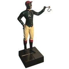 Cold Painted Iron Jockey Watch Holder