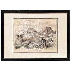 Bog Village Co Roscommon Illustration