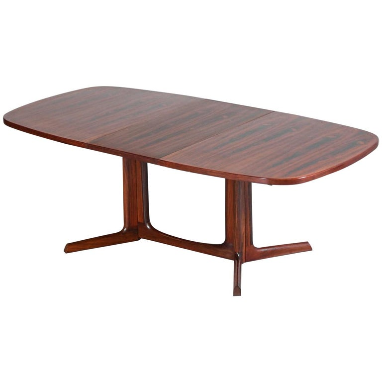 Large Dining Table in Rosewood, Scandinavian Design 10 Person, 1960