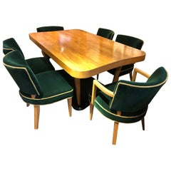 "Gilbert Rohde Art Deco ""Paldao"" Dining Room Set for Herman Miller 10 Pieces Comp"