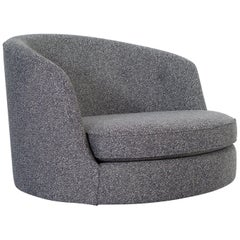 Milo Baughman Oversized Swivel Lounge Chair