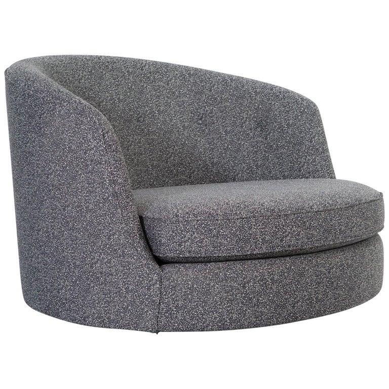 Oversized Vintage Milo Baughman Style Ufo Sofa Chair At