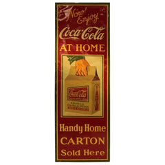 Rare American 1930s Coca Cola Tin Sign