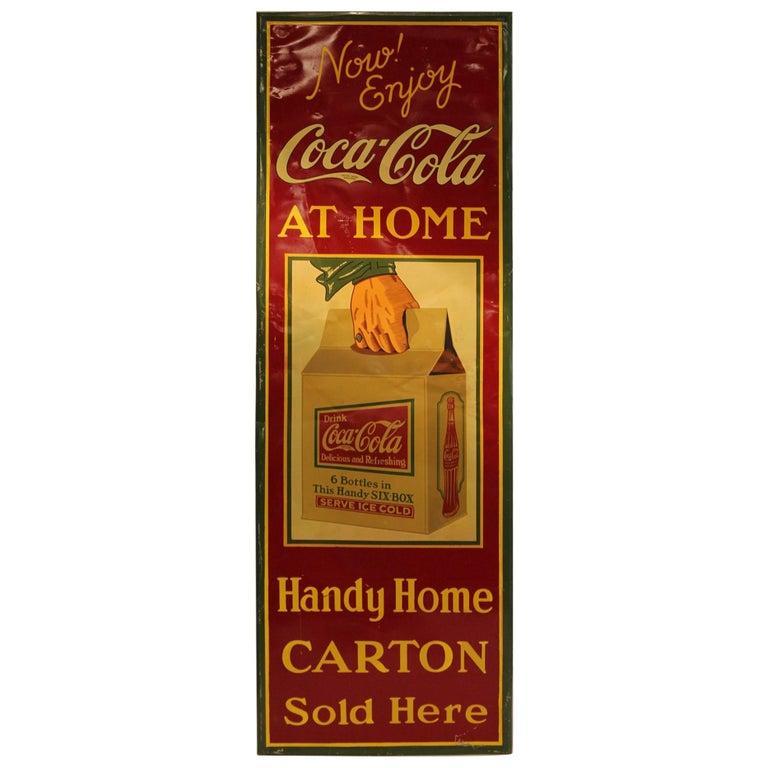 Rare American 1930s Coca Cola Tin Sign