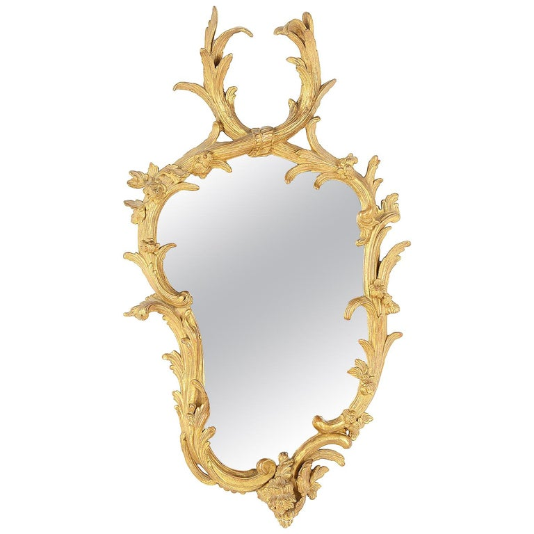Chippendale Period Wall Mirror, 18th Century For Sale