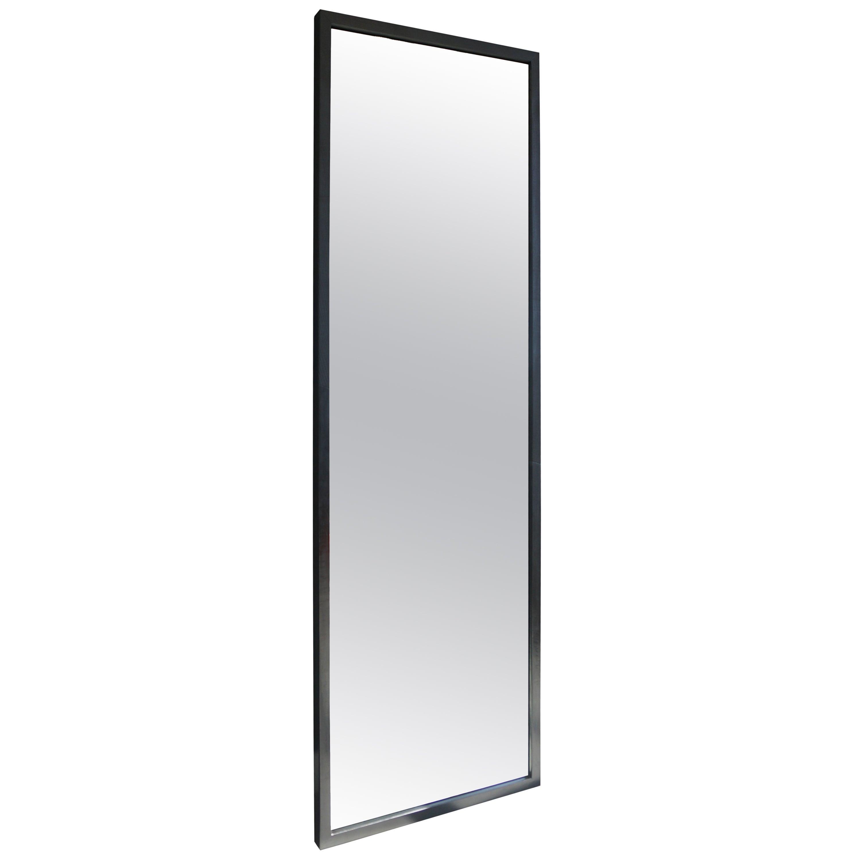 Hansha Mirror Modern Burnt Ash & Patinated Steel by Ordinal Indicator