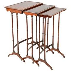 Nest of Regency Period Tables, circa 1820