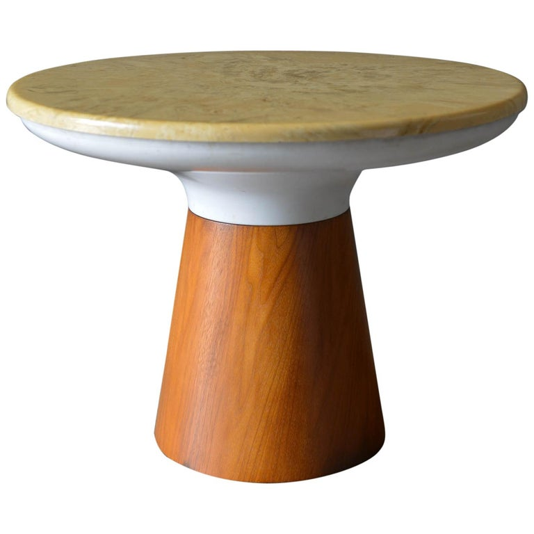 Stone Occasional Table by Frank Rohloff for Brown Saltman, circa 1965