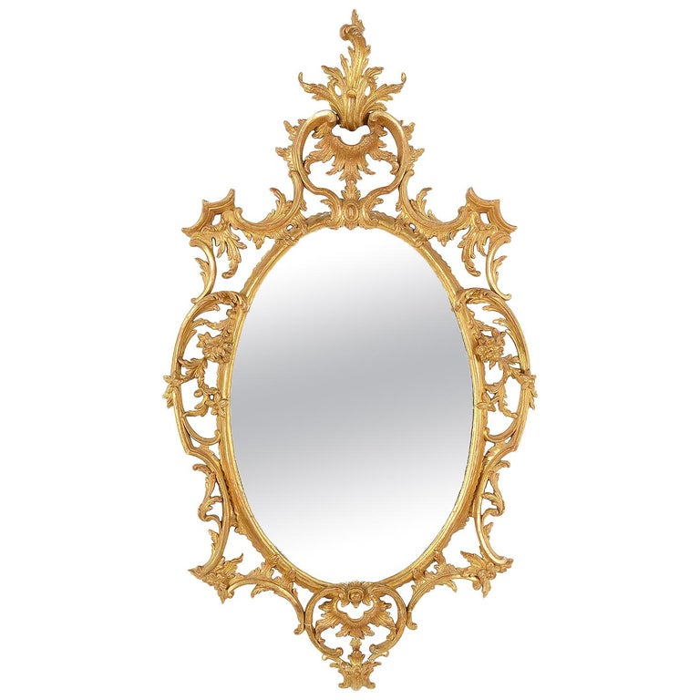 18th Century Style Chippendale Wall Mirror