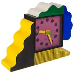 Memphis Ceramic Table Clock by Du Pasquier and Sowden for Neos, Italy, 1980s