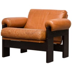 Martin Visser Rust Leather and Wenge Lounge Chair