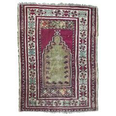 Antique Turkish Anatolian 19th Century Prayer Rug