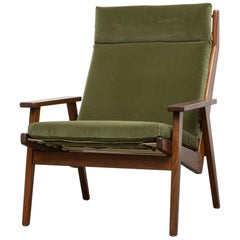 Robert Parry Olive Velvet Lounge Chair