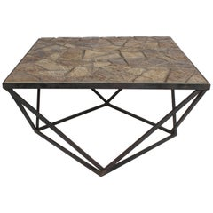 J. Ormond Sanderson Straw Valley Pottery Mid-Century Modern Cubist Coffee Table
